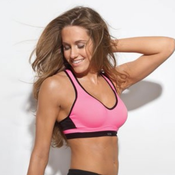 Victorias Secret Incredible by Victoria Sport Bra Light Pink Gray 34B